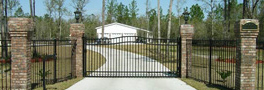 Finished fencing around a home in Baldwin County, AL