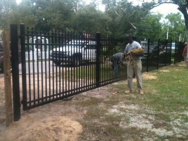 Ultra aluminum fencing in baldwin county al gatlin